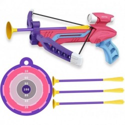 XOYTN  Kids Outdoor Toys Bow and Arrow Archery Set - Outdoor Hunting Game with 3 Suction Cup Arrows for Boys Girls,Pink