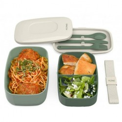 FCZNG  Container Stackable Bento Lunch Box Container  (Khaki Green)