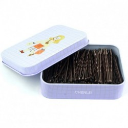 CHENLEI Hair Pins  with Cute Case, 200 Pack Bobby Pins for Buns, Premium Hair Pins for Girls and Women, Great for All Hair Types (Brown)