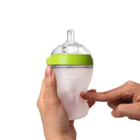 Fanax   Baby Bottle, Green, 5 Ounce (2 Count)