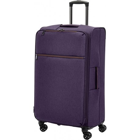 JORVPO Softside Spinner Suitcase Luggage - Expandable with Wheels - 31 Inch, Purple
